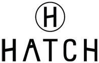 Le logo de Hatch se compose de la lettre « H » dans un cercle situé au-dessus du nom de l'entreprise « HATCH ».