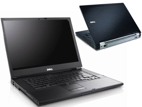 An image of a dell laptop, both front and back.