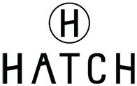 """Hatch logo, an H inside a circle above the name """"HATCH"""""""